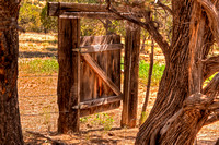 Tajique-NM-Ranch-Wooden-Gate-Trees