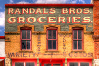 Hico, TX - Randals Bros Groceries Building Sign